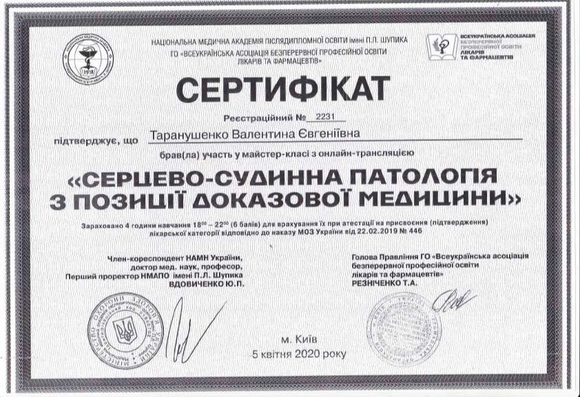 Сертификат об участии в мастер-класс с онлайн-трансляцией