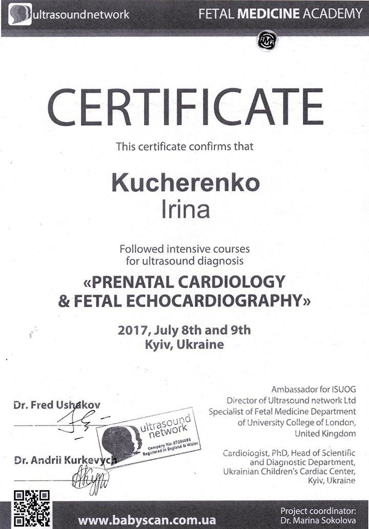 Сертификат об участии в курсе интенсиве