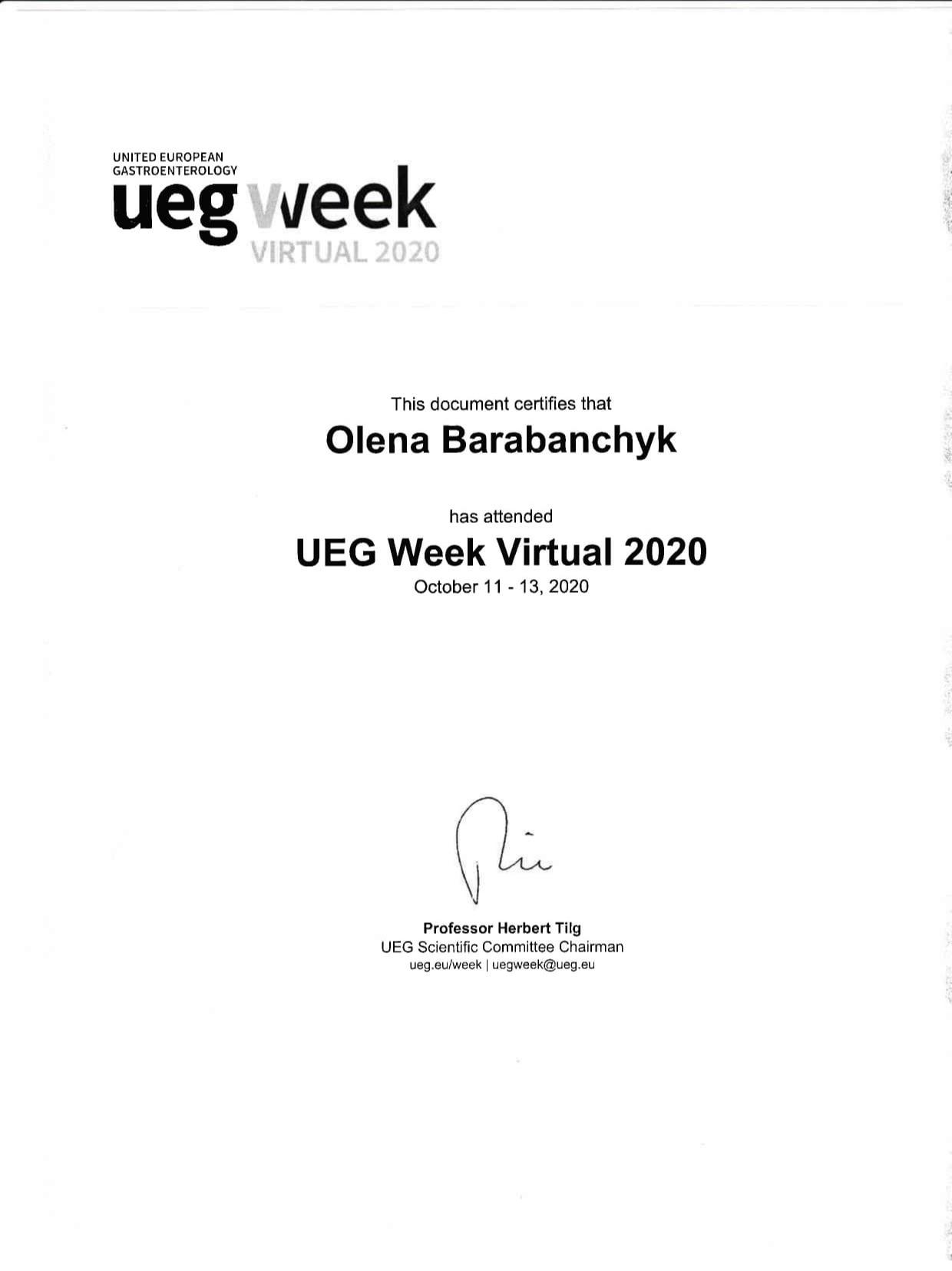 Сертификат об участии в образотвательной программе